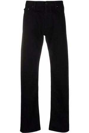 OFF-WHITE Men Straight - Diagonals print straight-leg jeans