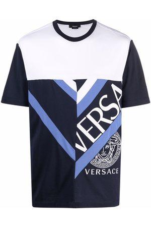 VERSACE Patchwork logo-print T-shirt