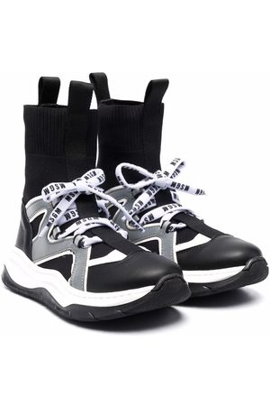 Msgm Lace-up sock-style sneakers