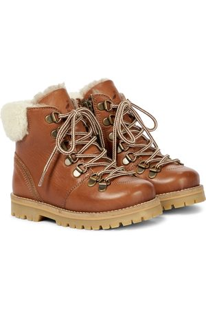 Petit Nord Rainbow shearling-lined leather boots
