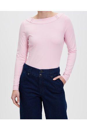 Review Brigitte Long Sleeve Top - Tops (Blush) Brigitte Long Sleeve Top