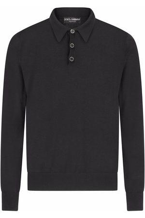 Dolce & Gabbana Long-sleeved cashmere polo shirt