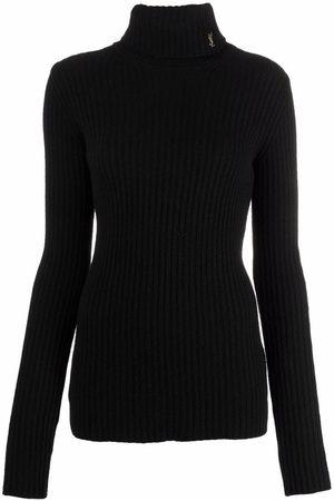 Saint Laurent Women Sweaters - Ribbed-knit roll-neck jumper