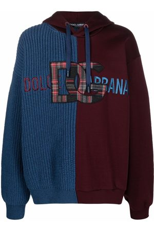 Dolce & Gabbana Panelled logo-patch hoodie