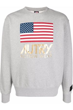 Autry Men Sweatshirts - Logo-print cotton sweatshirt