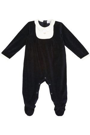 Emporio Armani Kids Rompers - Baby cotton velvet onesie