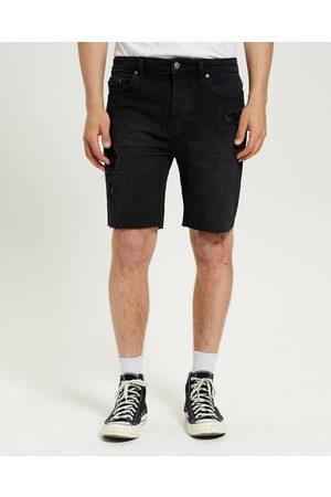KSUBI Men Shorts - Chopper Denim Shorts Boneyard