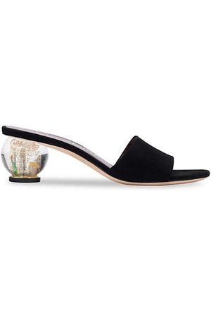 kate spade new york Polished Suede Slide Sandals