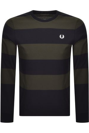 Fred Perry Men Long Sleeve - Bold Striped Long Sleeve T Shirt