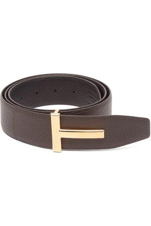 Tom Ford T-logo Reversible Grained-leather Belt - Mens