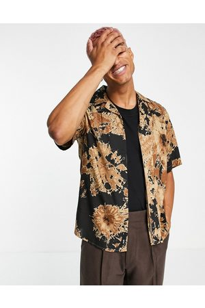 Only & Sons Oversized tie-dye shirt in brown