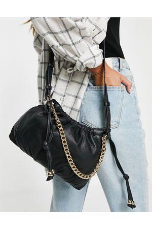 Urban Code Leather drawstring chain crossbody bag in