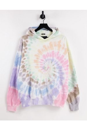 Abercrombie & Fitch Pride Capsule spiral tie dye wash hoodie in co-ord