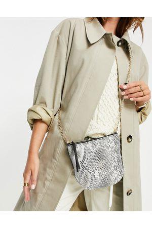 Urban Code Leather snakeskin crossbody bag in -Neutral