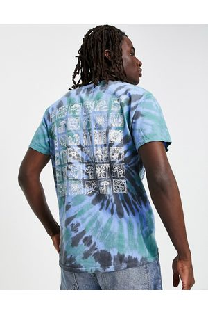 Vintage Supply Men Short Sleeve - T-shirt in tie-dye with mushroom chest and back print