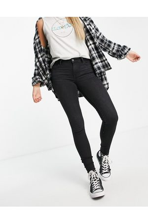 Levi's Women Skinny - 710 super skinny jeans in washed black