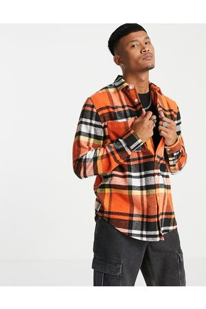 ASOS Check overshirt in flannel