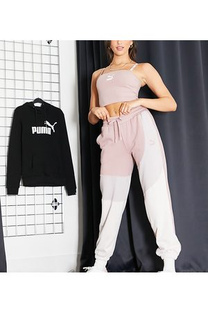 PUMA Convey oversized trackies in pink colourblock Exclusive to ASOS