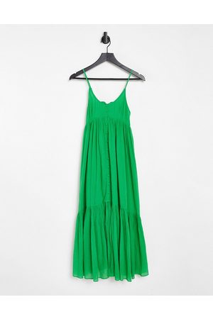 Whistles Trapeze tiered maxi dress in