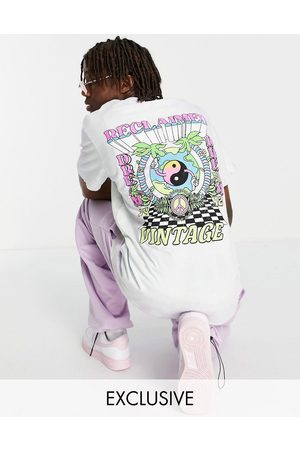 Reclaimed Inspired tie dye t-shirt with graphic back print