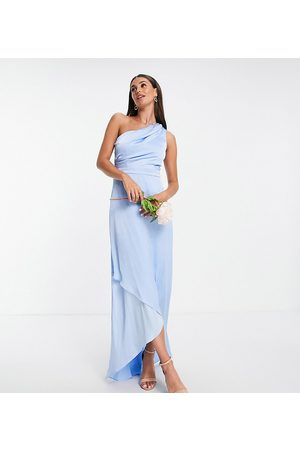 TFNC Tall Bridesmaid one-shoulder maxi dress in