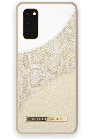 Ideal of sweden Atelier Case Galaxy S20 Cream Gold Snake