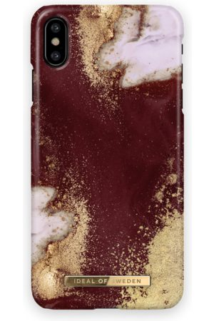 Ideal of sweden Fashion Case iPhone X Golden Burgundy Marble