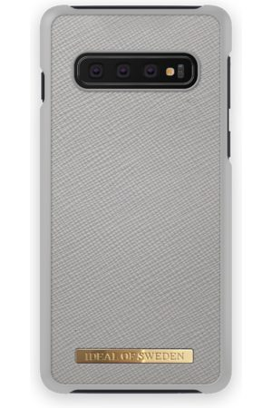 Ideal of sweden Saffiano Case Galaxy S10 Light Grey