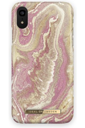 Ideal of sweden Fashion Case iPhone XR Golden Blush Marble