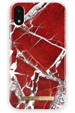 Ideal of sweden Fashion Case iPhone XR Scarlet Red Marble