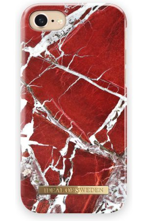 Ideal of sweden Fashion Case iPhone 8 Scarlet Red Marble