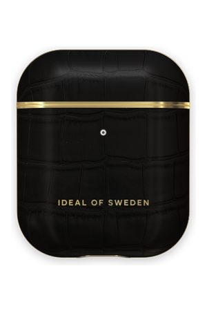 Ideal of sweden Atelier AirPods Case Jet Black Croco