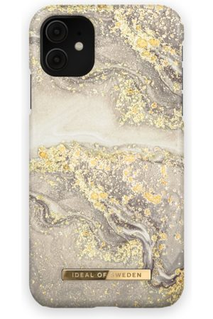 IDEAL OF SWEDEN Phone Cases - Fashion Case iPhone 11 Sparkle Greige Marble