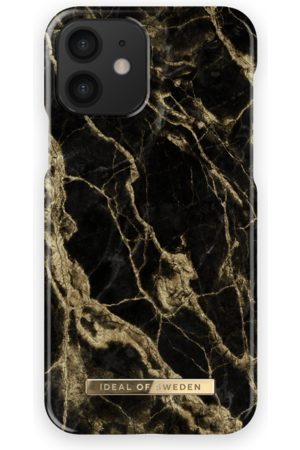 Ideal of sweden Fashion Case iPhone 12 Golden Smoke Marble