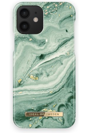 Ideal of sweden Fashion Case iPhone 12 Mint Swirl Marble