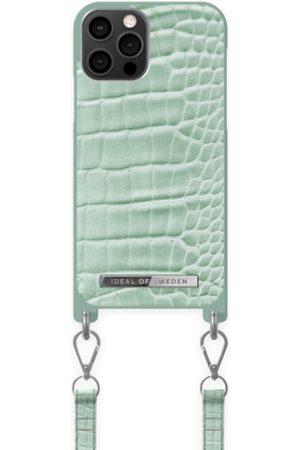 Ideal of sweden Atelier Necklace Case iPhone 12/12 Pro Mint Croco