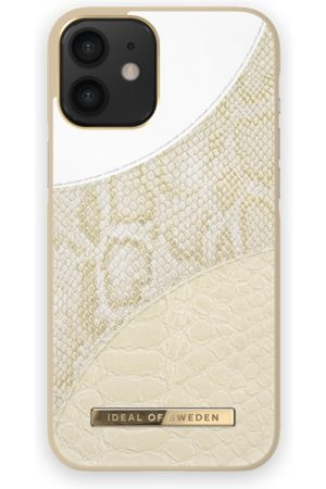 Ideal of sweden Women Phone Cases - Atelier Case iPhone 12 Mini Cream Gold Snake