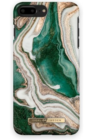 Ideal of sweden Fashion Case iPhone 8 Plus Golden Jade Marble
