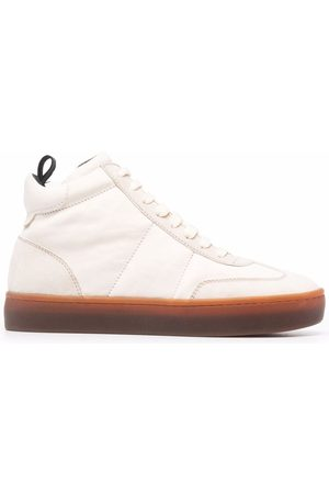 Officine creative Kombined high-top leather trainers