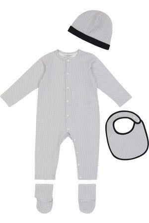 Emporio Armani Baby cotton onesie, hat and bib set