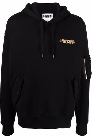 Moschino Logo-lettering cotton hoodie