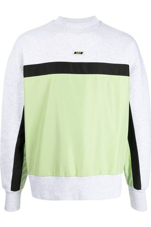 Msgm Logo-patch panelled sweatshirt