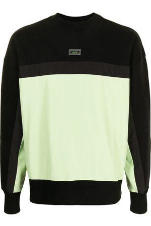 Msgm Logo-patch colour-block sweatshirt