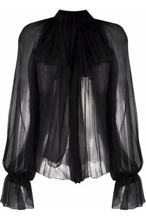 Atu Body Couture Bow-detail silk blouse