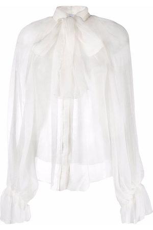 Atu Body Couture Semi-sheer silk blouse