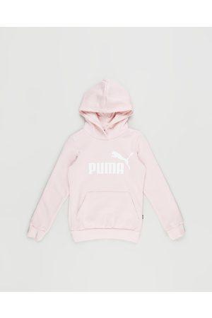 PUMA Girls Hoodies - Essential Logo Fleece Hoodie Kids Teens - Hoodies (Lotus) Essential Logo Fleece Hoodie - Kids-Teens