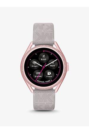 Michael Kors Watches - Access Gen 5E MKGO Pink-Tone and Logo Rubber Smartwatch