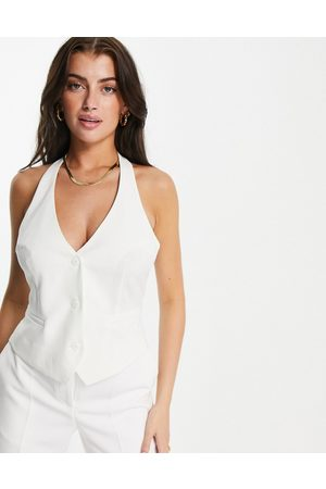 ASOS Women Waistcoats - Mix & match suit waistcoat in -White