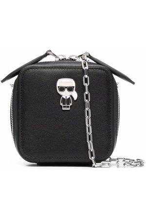 Karl Lagerfeld Logo-plaque zip-up satchel bag