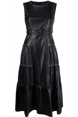 Pinko Stud-embellished tiered midi dress